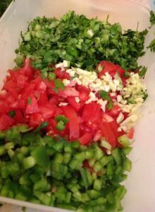 Picadillo de Vegetales para los Burritos